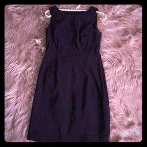 Fitted feminine dark purple dress